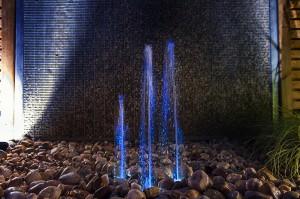 Jet d'eau avec lumière
